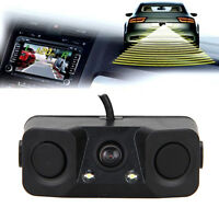 2 in1 Parking Sensors Car Camera Reverse Backup Radar System Kit Sound Alarm