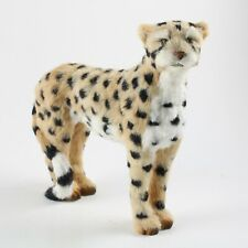 Cheetah Fur Figurine – Soft Animal Statue – Realistic Handmade Sculpture