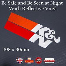 K & N Filtre à air moto autocollant décalcomanie multicouche réflecteur Vinyl