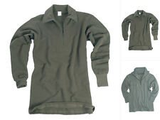 Mil-Tec BW Trikothemd mit RV Plüsch Bundeswehr Hemd Herrenhemd Sweatshirt S-3XL
