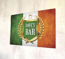 Cresta d'oro personalizzata bandiera irlandese Birra Etichetta Segno Di Placca Di Metallo a4