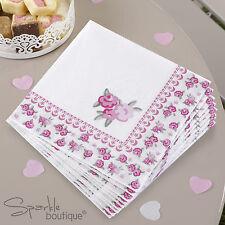 FRILLS & SPILLS LARGE PAPER NAPKINS -Floral Afternoon Tea Party- RANGE IN SHOP
