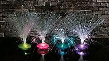 (1) Set 4 UFO FIBER OPTIC ~ PARTY LAMPS ~ NIGHT LIGHTS