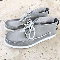UGG Mens Beach Moc Chukka Boots Leather Gray New