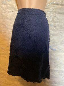 Boden navy lace skirt size 14 L