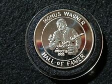 VINTAGE HONUS WAGNER  HALL OF FAME COIN 1 TROY oz  999.Pure Silver NICE