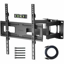 TV Wall Bracket for 23-60 Inch Flat&Curved TVs, Swivels Tilts Extends, Double Ar