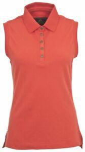 Toggi Ladies Effie Sleeveless Equestrian Polo Shirt DIESEL STRIPE SALE