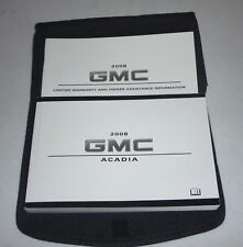 2008 GMC ACADIA OWNERS MANUAL 08 SET + ONSTAR GUIDE W/CASE