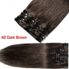 US Stock Clip In Remy Real Human Hair Extensions DIY Full Head Cheap Price G046