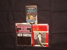 BASEBALL: 3 books RED SMITH: 1.To Absent Friends 2. Red, A Biography &