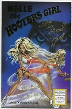 HALLE the HOOTERS GIRL #1 Gold Foil Exclusive Signed x2 SAN ANTONIO SPECIAL BOOK