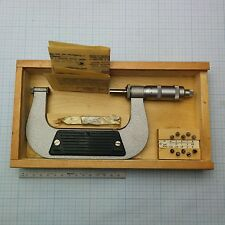 Screw Thread Micrometer 75-100mm +10 ISO60° pitch inserts / Gewinde Mikrometer