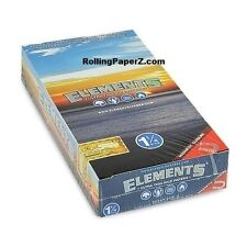 Fully Sealed BOX of 25 packs ELEMENTS 1 1/4 1.25 Ultra Thin Rice Rolling papers