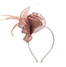 Mocha Headband Aliceband Hat Fascinator Wedding Ladies Race Royal Ascot 5