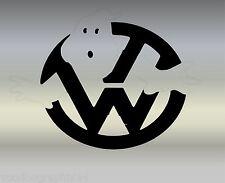 "VOLKSWAGEN VW Extra Grande 17"" logo decal sticker X2 Transporter T5 T4 caravanas"