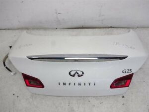 2011 2012 Infiniti G25 4DR Trunk Lid Rear Deck H4300-JK0MM White Pearl