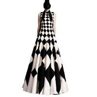 Runway Women Designer Inspired Big Hemline Summer Dress A-Line Plus Size Prom L
