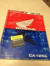 Honda CA125S CA125 S Rebel CA 125 revue technique workshop service Manuel