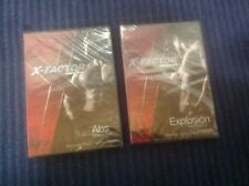 3 X-Factor Weider Exercise DVDs~Abs, Explosion Workout Sealed+8 Week Nutrition