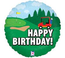 "18"" Holographic Balloon Golf Happy Birthday Party Foil Helium Balloon"