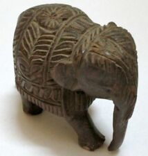 Vintage Collectible Beautifully Hand Carved Wooden Elephant Figurine / Statue