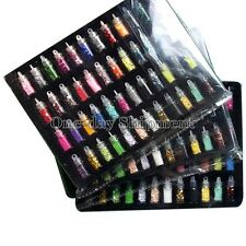 Nail Art 48 Colors Glitter Decoration Tips For UV Acrylic System Tips Kit Set