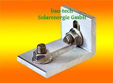 1 St. Würth Kreuzverbinder Alu inkl. Verschraubung für Solar Montage Profil PV