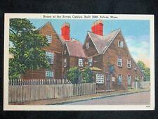 Vintage Linen Postcard House of Seven Gables Salem Massachusetts Unposted