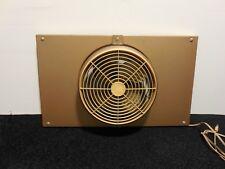 Vtg Mid Century Brown Metal Industrial Single Speed Tilting Window Fan - Working