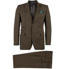 Ted Baker Men's Tight Lines Brown Herringbone Suit, Blazer size 36R/30R Trousers