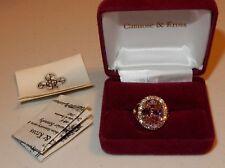 QVC Camrose & Kross Jacqueline Jackie Kennedy JBK Simulated KUNZITE RING NEW 5