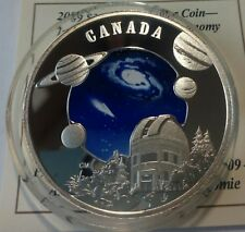 Canada 30 dollars 2009 Year of Astronomy space Silver 33.7 gr  Box COA