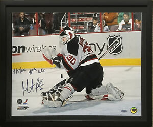 Martin Brodeur Devils signed 16x20 photo ins 48th win framed auto steiner holo