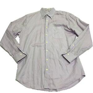 Peter Millar Men's Cotton Nanoluxe Easy Care Collared Button Front Dress Shirt L