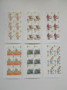 GB QEII 2012 Roald Dahl's Stories Set of 6 in Cylinder Blocks of 6 U/M Cat £66+