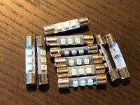 10 New Cool Blue 8V Fuse Lamp LED Light Bulbs for Marantz Sansui Pioneer Kenwood