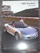 2004 Toyota MR2 Accessories Brochure mk3 mrs race track car sales English