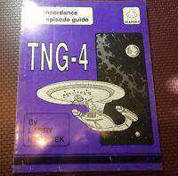 Star Trek TNG-4 Concordance & Episode Guide Trade Book SC