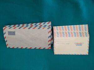 Unused Air Mail Envelopes Lot of 34 Vintage Airmail Luftpost