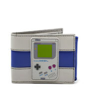 OFFICIAL NINTENDO - GAME BOY RUBBER PATCH & COLOURS GREY BI-FOLD WALLET (NEW)