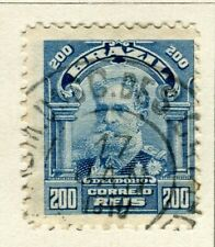 BRAZIL; 1906 early Portraits issue fine used 200r. value