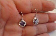 925 STERLING SILVER LADIES EARRINGS W/5.50 CT TANZANITE/DIAMOND/STUNNING PAIR!!!