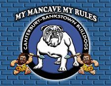 MAN CAVE MY RULES  TIN SIGN