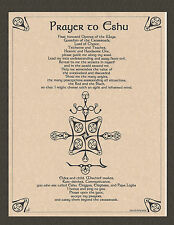 PRAYER TO ESHU Invocation Orisha Yoruba Pagan Book of Shadows Page Poster
