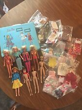 Lot Of 1960-1970's Skipper Dolls, Dodi Doll, Case, Clothes And Accessories