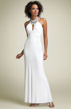 NEW MARY L COUTURE OPEN BACK JEWELED DRESS GOWN SIZE 12 $306 GODDESS WEDDING