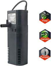 Filtre Intérieur Filtre Interne Pompe Filtre pour Aquarium 2/6W 300L
