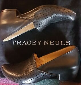 Tracey Neuls Gorgeous Black Leather Shoes Size 4/37