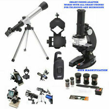 40X TELESCOPE + REMOTE FOR LUNAR STAR OBSERVATION +600X MICROSCOPE +PHONE MOUNT